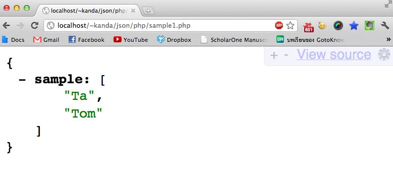 php web service rest json